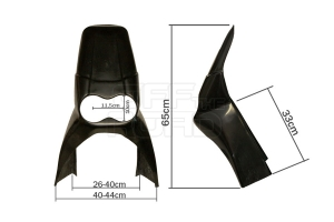 Universal Rallye Frontmaske, lang